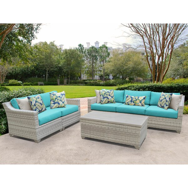 Genevieve 6 Piece Sofa Seating Group with Cushions by Rosecliff Heights