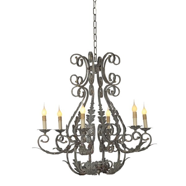 Italian 6 - Light Candle Style Empire Chandelier by ellahome ellahome
