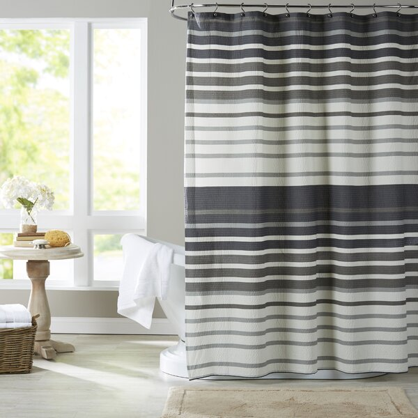 Brightwood Cotton Shower Curtain by Wrought Studio