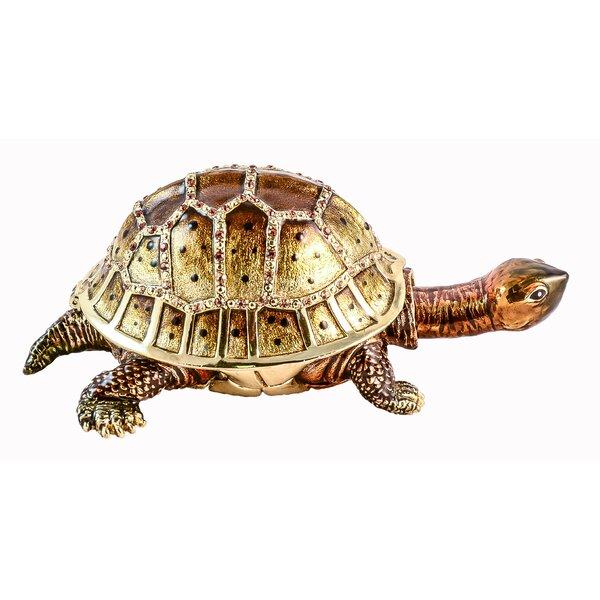 Middlefield Land Turtle Trinket Box Figurine by Bay Isle Home