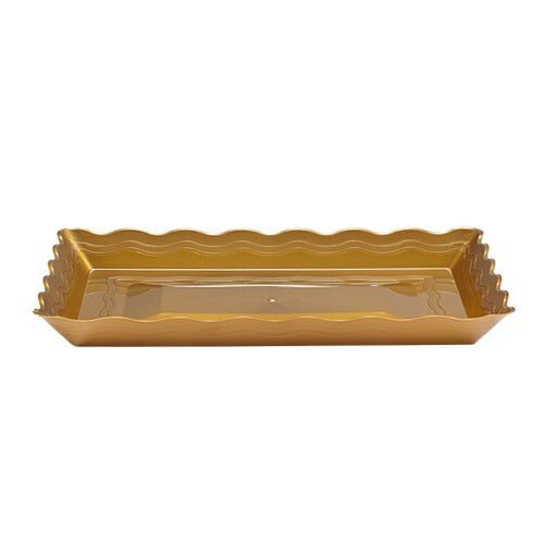 Rectangle Plastic Platter by Posh Table