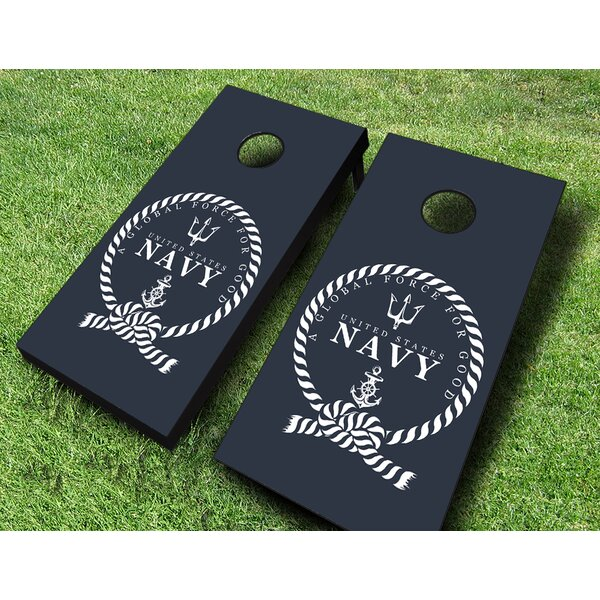 US Navy Global Force for Good Cornhole Set by AJJ Cornhole