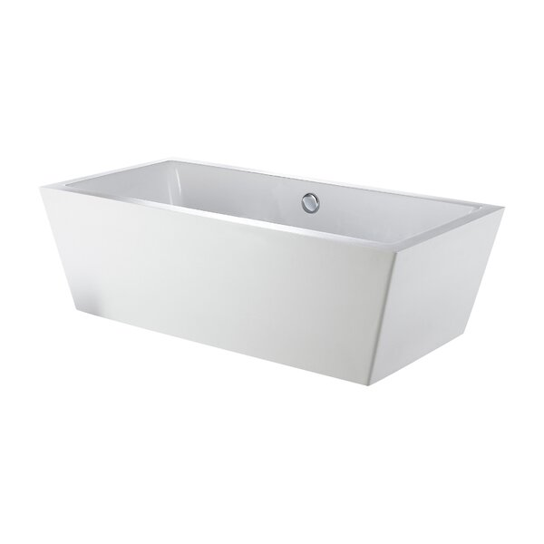 Rachel 60 x 31 Freestanding Bathtub by Eviva