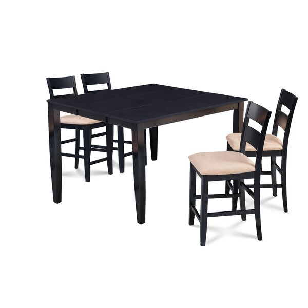 Almodovar 5 Piece Counter Height Extendable Dining Set by Charlton Home