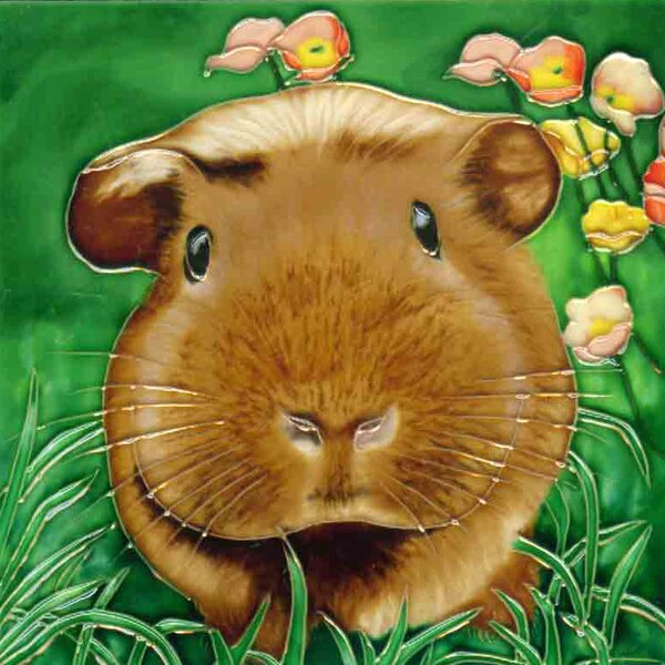 Guinea Pig Tile Wall Decor by Continental Art Center