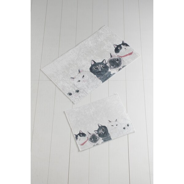 Morefield Angry Cats Rectangle Non-Slip piece Bath Set