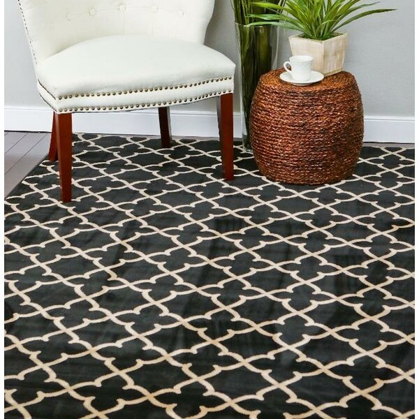 Spaulding Black/Beige Indoor/Outdoor Area Rug by Andover Mills