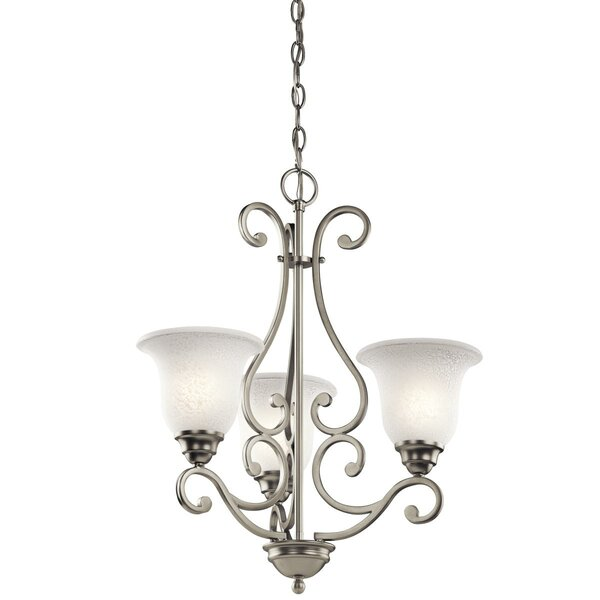 Haffenreffer 3-Light Shaded Classic / Traditional Chandelier by Alcott Hill Alcott Hill