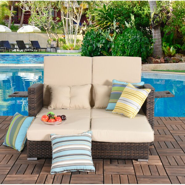 Cabrillo Patio Daybed with Cushions by Bay Isle Home