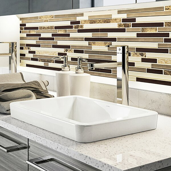 Classically Redefined Ambre Ceramic Rectangular Vessel Bathroom Sink by DECOLAV