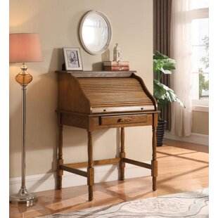 Angeline Secretary Desk with 2 Drawer File Cabinet