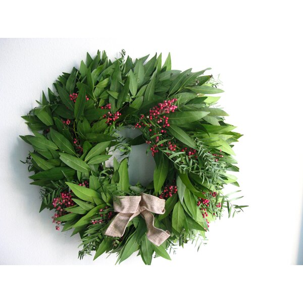 16 Bayleaf and Pepperberry Wreath by From the Garden