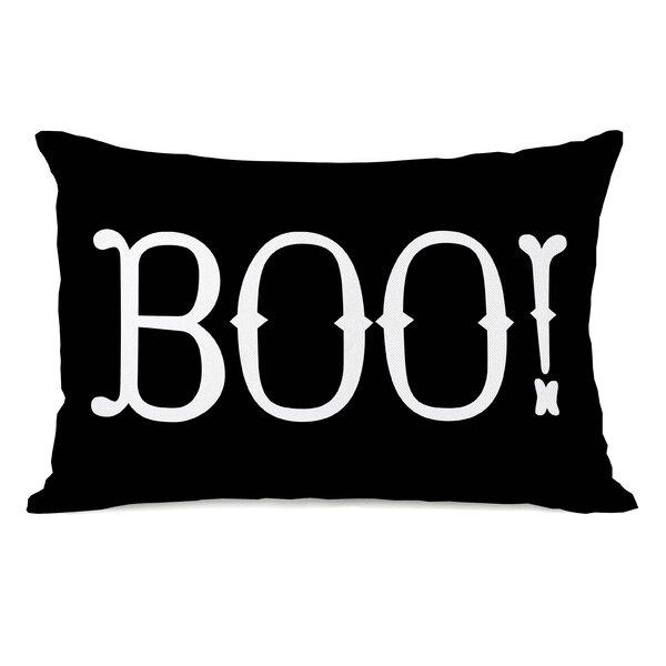 Boo! Lumbar Pillow by One Bella Casa