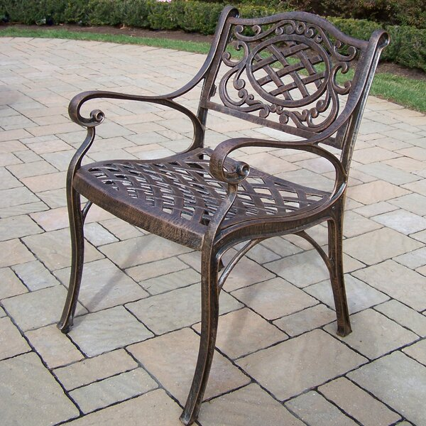 Mcgrady Patio Dining Chair with Cushion by Astoria Grand Astoria Grand
