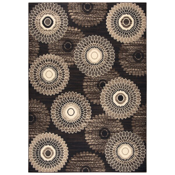 Burrill Brown/Gold Area Rug by Charlton Home