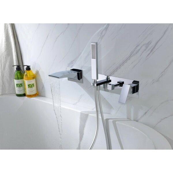 Double Handle Wall Mounted Tub Spout With Diverter And Handshower By Sumerain International Group