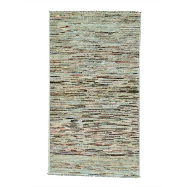 One-of-a-Kind Ferriera Peshawar Hand-Knotted Beige/Red Area Rug by Latitude Run