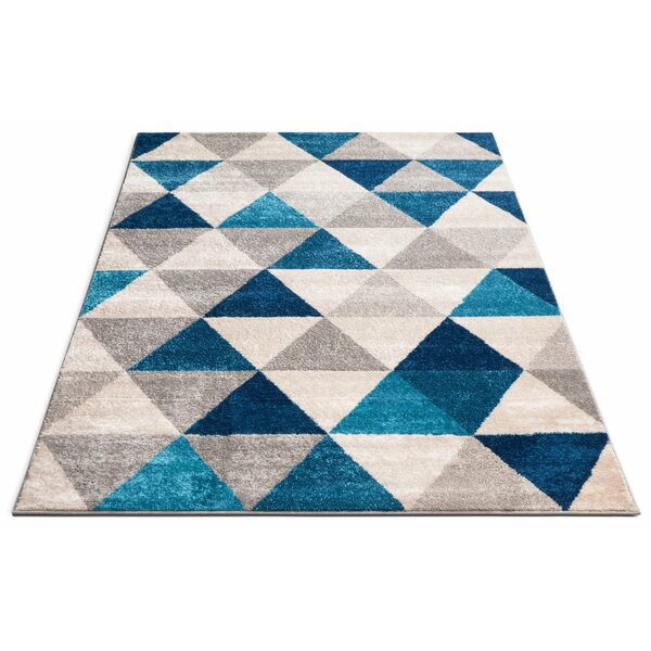 Dumas Blue/Gray Area Rug by Mercury Row