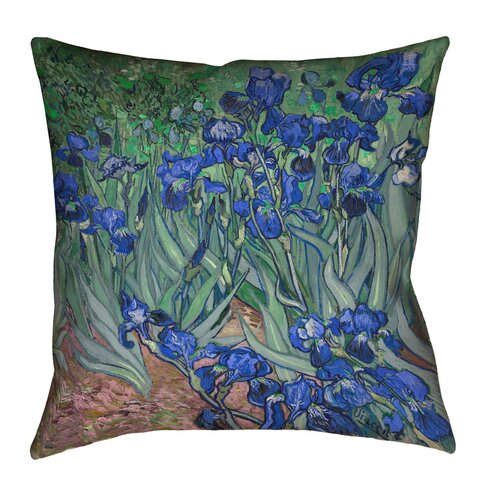 Red Barrel Studio Morley Irises Throw Pillow Wayfair