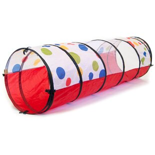 Coupon Jumbo Polka Dot Development Crawl Pop-Up Play Tunnel with Carrying Bag By eWonderWorld