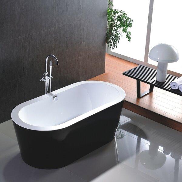 68 x 36 Freestanding Soaking Bathtub by Vanity Art