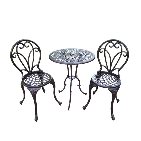 Ericka 3 Piece Bistro Set by Fleur De Lis Living