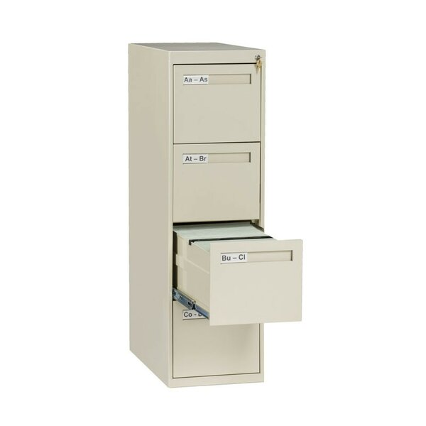 4 Drawer Vertical Letter Size File Cabinet by Tennsco Corp.