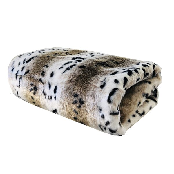 Mcgowen Snow Lynx Luxury Blanket by Bloomsbury Market