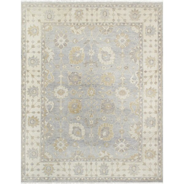 Sultanabad Hand-Knotted Gray/Ivory Area Rug by Pasargad