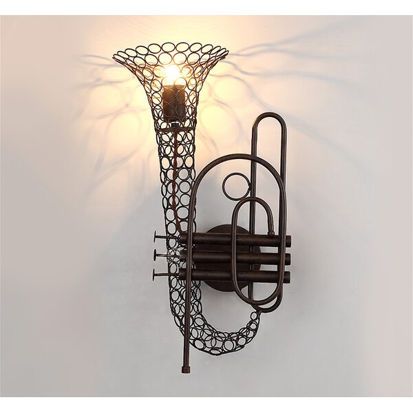 1-Light Musical Instament Wall Sconce by Westmen Lights