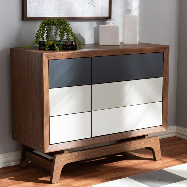 Gholston Wood 6 Drawer Double Dresser by George Oliver