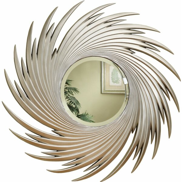Mckeehan Beautifully Designed Round Spiral Accent Mirror by Bloomsbury Market