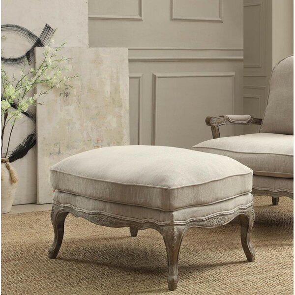Lampley Reversible Cushion Seat Ottoman by One Allium Way