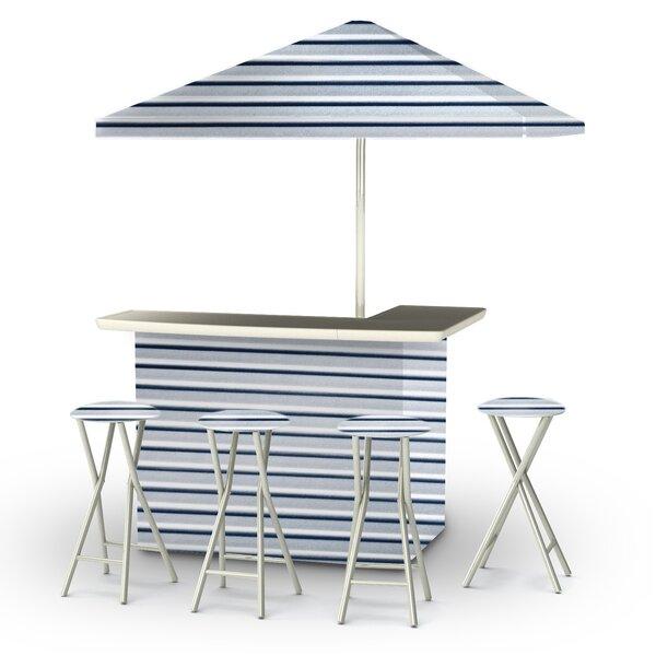 Gunnar 8 Piece Bar Set by Rosecliff Heights