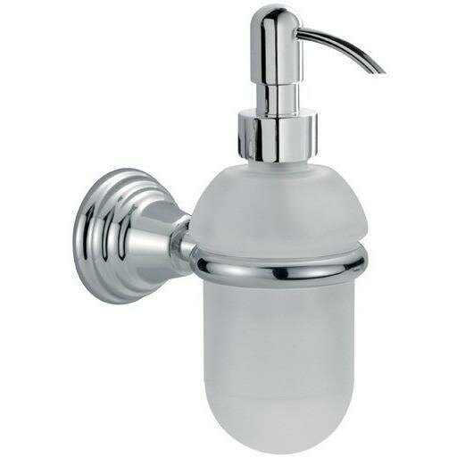 Hunnicutt Wall Frosted Glass Soap Dispenser by Alcott Hill