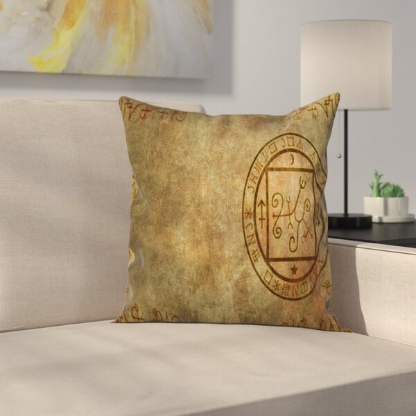 Ancient Textured Paper Square Pillow Cover by East Urban Home