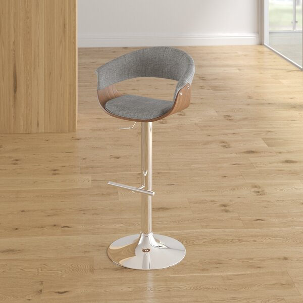 Frederick Adjustable Height Swivel Bar Stool by Langley Street