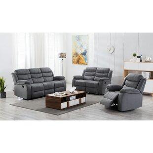 Angenetta Nova 3 Piece Reclining Living Room Set by Ebern Designs