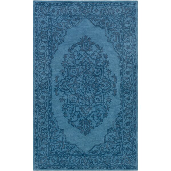 Farner Hand-Tufted Turquoise Area Rug by Ophelia & Co.