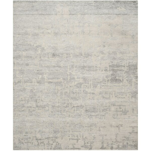 Armstrong Hand-Knotted Natural/Silver Area Rug by Orren Ellis