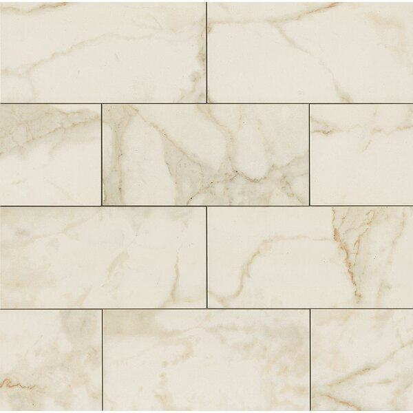 Classic Moderne 6 x 12 Porcelain Mosaic Tile in Calacatta by Grayson Martin