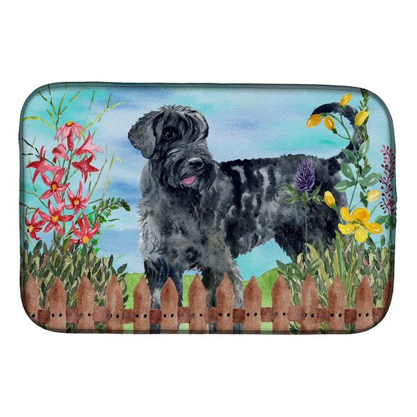 Giant Schnauzer Spring Dish Drying Mat by East Urban Home