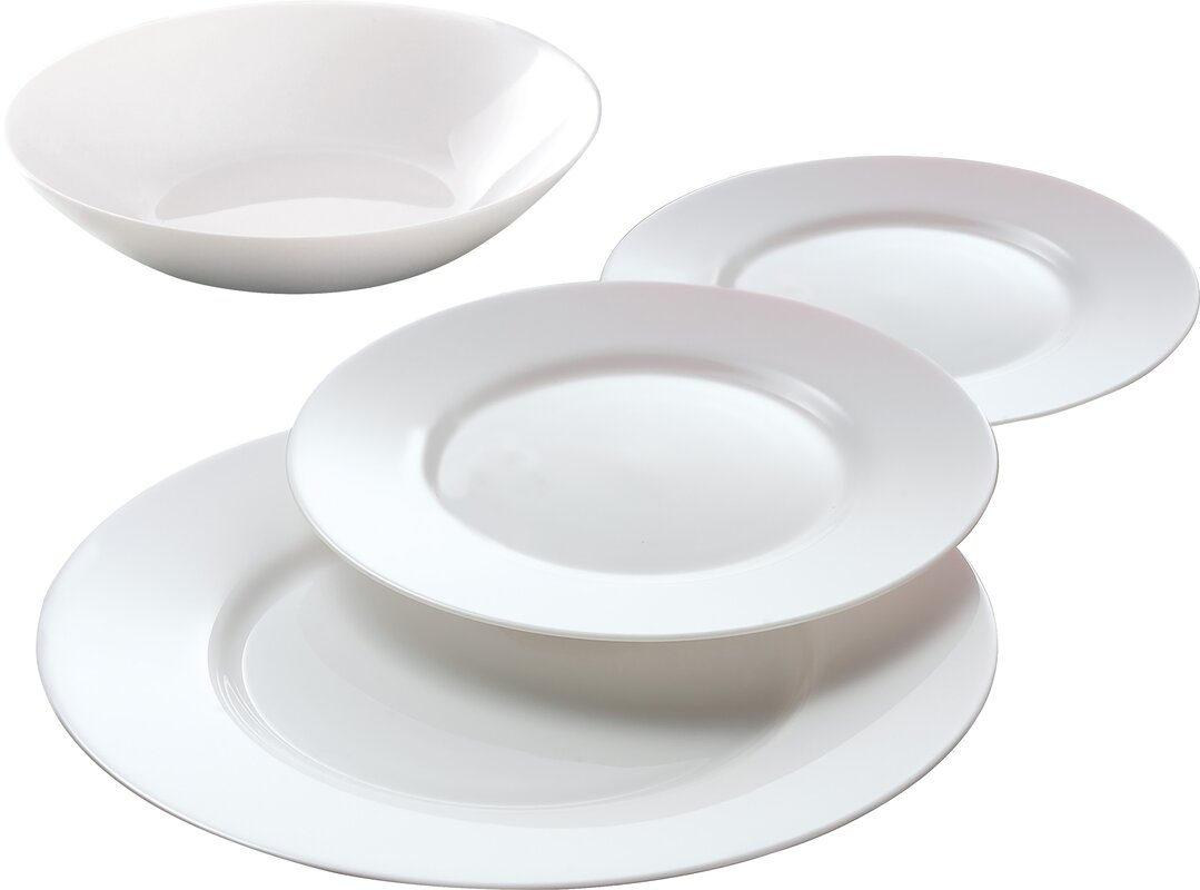 Everyday 12 Piece Dinnerware Set Service for 4  sc 1 st  Wayfair : every day dinnerware - pezcame.com