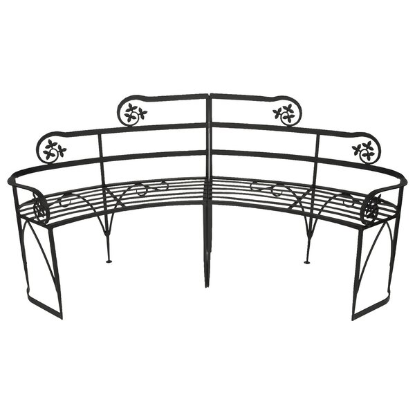 Lutyen II Wrought Iron Garden Bench by ACHLA