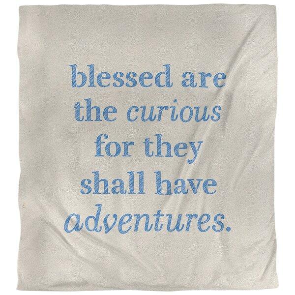 Curiosity Inspirational Quote Single Duvet Cover