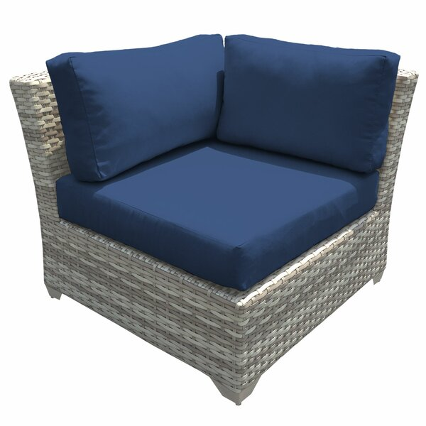 Ansonia Corner Patio Chair with Cushions by Rosecliff Heights