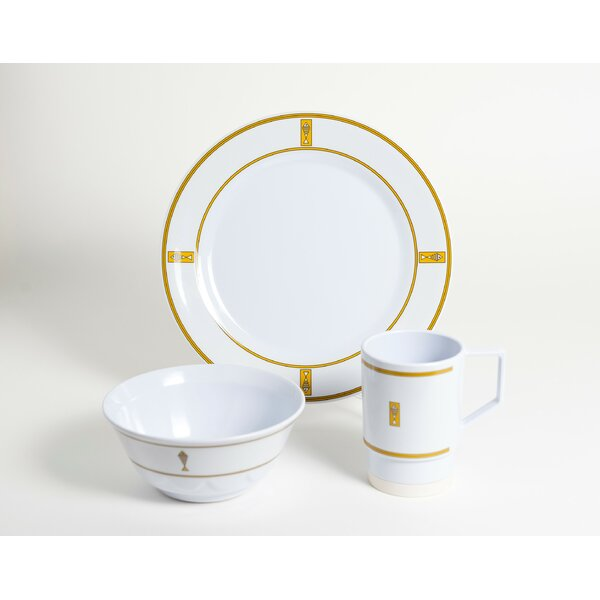 Decorated Fish Melamine 12 Piece Dinnerware Set, Service for 4 by Galleyware Company