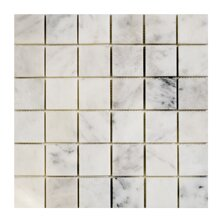 Imperial Carrara 2 x 2 Marble Mosaic Tile in White by Seven Seas