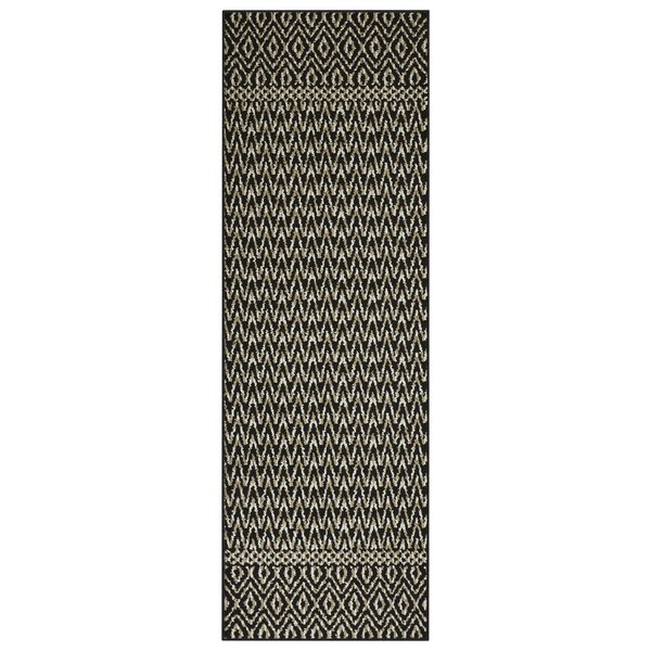Pine Black/Sand Area Rug by Bungalow Rose