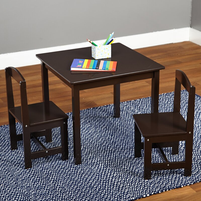 Tms Hayden Kids 3 Piece Square Table Amp Chair Set Amp Reviews